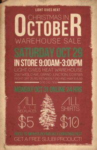 Light Gives Heat Warehouse sale in Grand Junction, Colorado