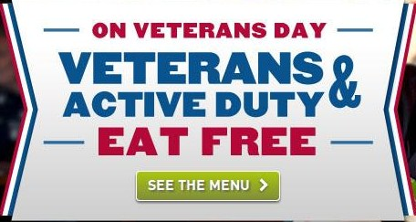 Free Food on Veterans Day for Veterans