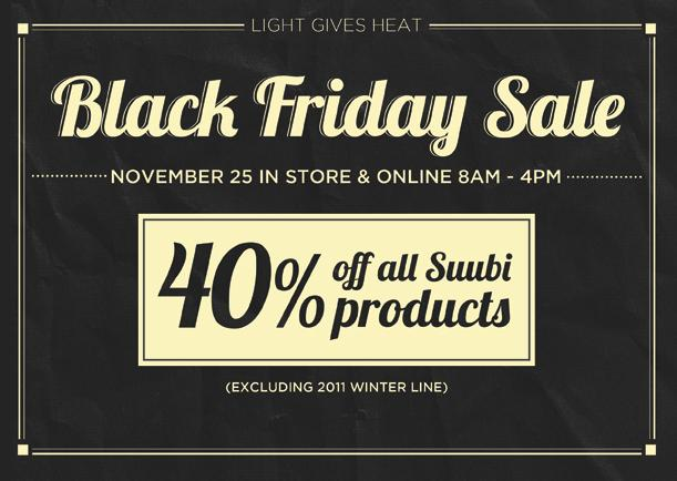 Light Gives Heat Black Friday Sale