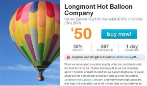 Hot Air Balloon Ride Deal in Denver