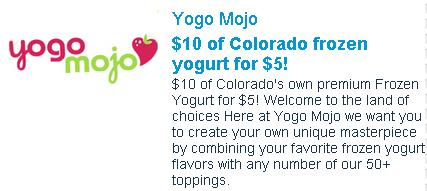 Yogo Mojo Coupon for Grand Junction, Colorado