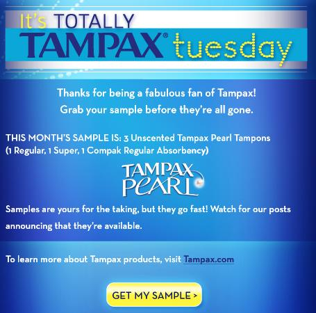 Tampax Free Sample