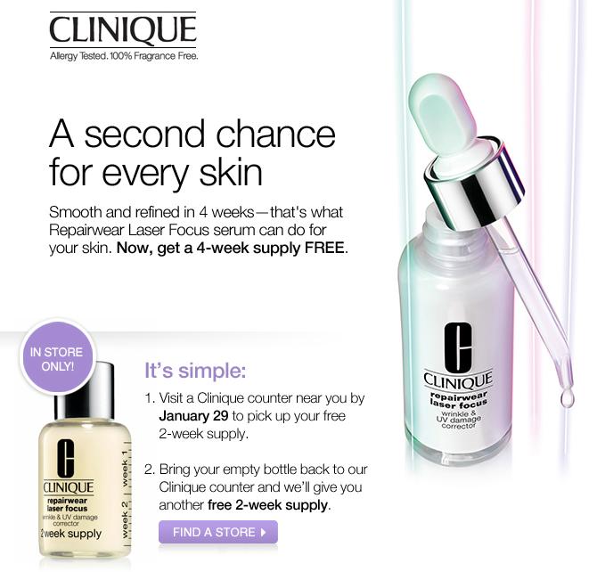 Free Clinique Sample
